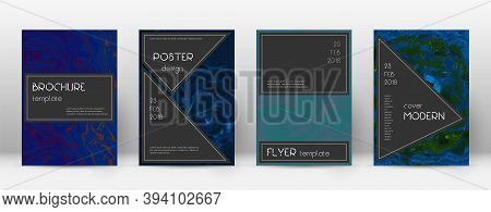 Abstract Cover. Excellent Design Template. Suminagashi Marble Black Poster. Excellent Trendy Abstrac