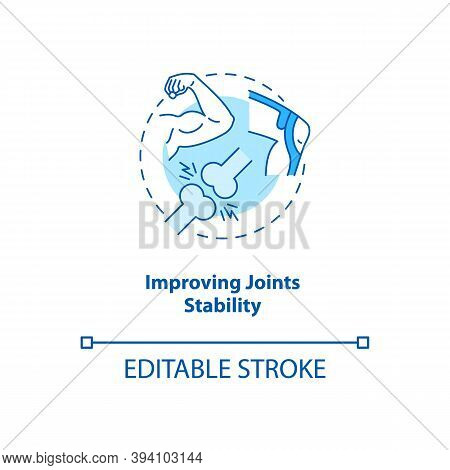 Improve Joint Stability Turquoise Concept Icon. Body Movement And Position. Physiology Treatment. Ki