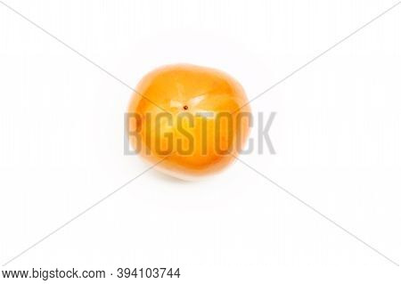 Khaki Isolated On White Background. Healthy Food Concept, Fruit