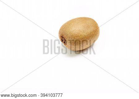 Kiwifruit Isolated On White Background. Healthy Food Concept, Fruit