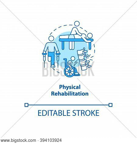 Physical Rehabilitation Turquoise Concept Icon. Physiology Therapist. Trauma Recovery. Kinesiology I