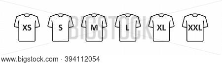 T-shirt Size. Clothing Size Label Or Tag. From Xs To Xxl.