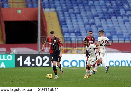 Genova, Italy. 08th November 2020. Lukas Lerager Of Genoa Cfc During The Serie A Match Between Genoa