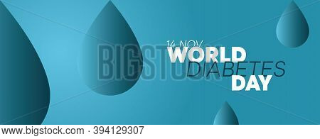 World Diabetes Day Banner 14th November. Concept Of Awareness Diabetes And Fight Against Diabetes. S