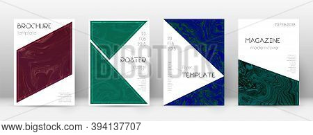 Abstract Cover. Popular Design Template. Suminagashi Marble Triangle Poster. Popular Trendy Abstract