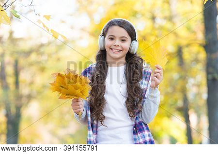 So Funny. Autumn Kid Fashion. Inspiration. Happy Childhood. Back To School. Girl With Maple Leaves R