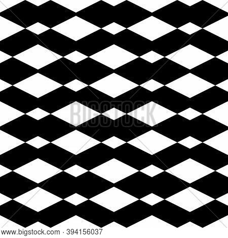 Rhombuses Pattern. Seamless Ornament. Diamonds Backdrop. Lozenges Wallpaper. Ethnic Motif. Geometric