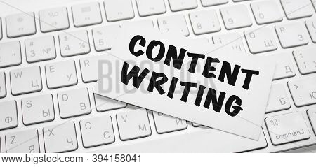 Words Content Writing Writing On Notepad On Keyboard