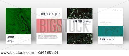 Abstract Cover. Astonishing Design Template. Suminagashi Marble Minimalistic Poster. Astonishing Tre