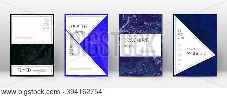 Abstract Cover. Awesome Design Template. Suminagashi Marble Stylish Poster. Awesome Trendy Abstract
