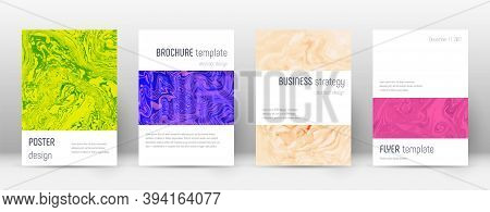Abstract Cover. Curious Design Template. Suminagashi Marble Minimalistic Poster. Curious Trendy Abst