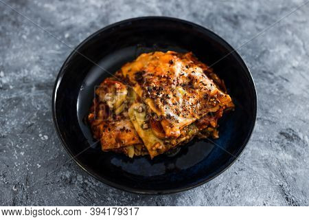 Plant-based Food, Vegetable Lasagna With Dairy-free Cheese
