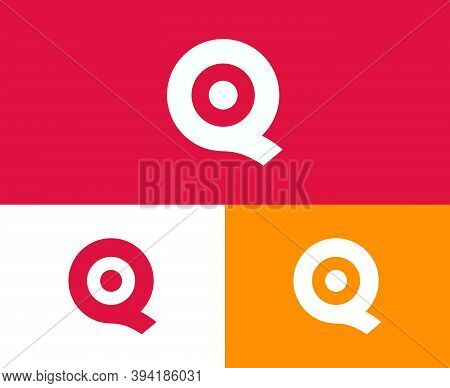 Initial Letter Q, Q, And O Joint Logo Design Template.
