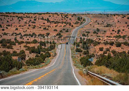 Western Road, Desert Highway Of The American Southwest
