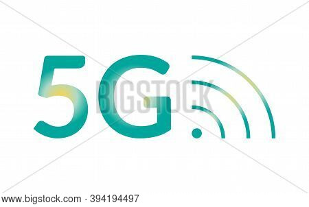 5g Vector Icon Isolated On White. Wireless 5th Generation Internet Network Gradient Symbol