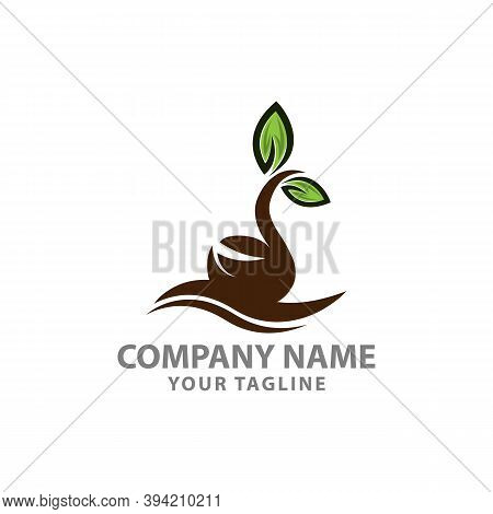 Plant Seeds Logo Concept Template Vector,green Seed Logo Type Illustration