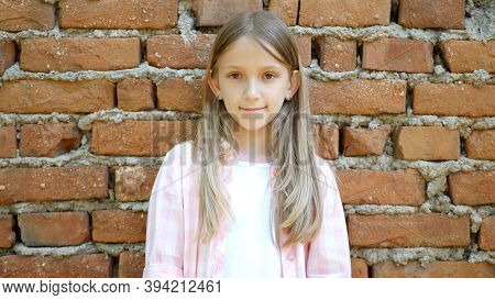 Sad Face Kid Unhappy Child, Thoughtful Bullied Teenager Girl In Park, Children Expression Sadness, A