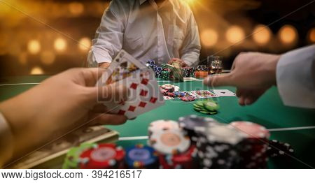High stakes Poker game  at the casino