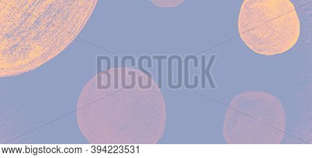 Grunge Circular Elements. Violet Watercolour Radial Background. Abstract Scribble Surface. Hand Draw