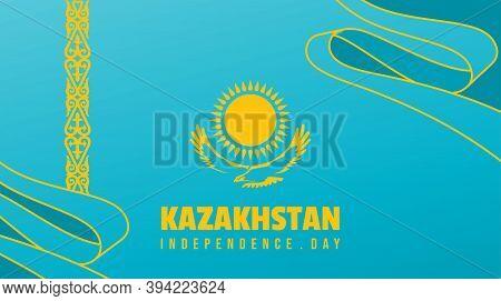Kazakhstan Independence Day Background Design With Kazakhstan Flag Vector Illustration. Good Templat