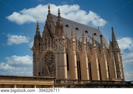 View Of Cathedrale Of Vincennes In Vincennes, Paris. France