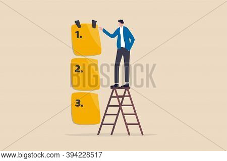 Set Work Priority, Arrange To Do List Which Job To Do Before And After, Task Management Concept, You