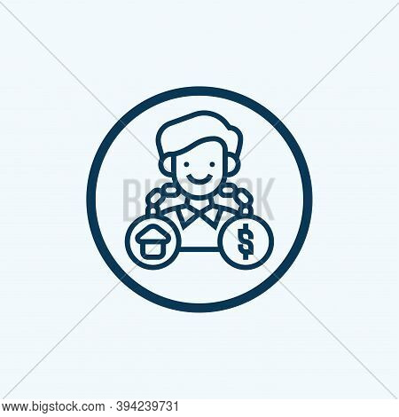 Debt Icon. Simple Element From Crisis Collection. Creative Debt Icon For Web Design, Templates, Info