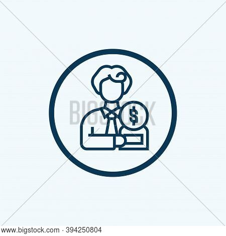 Ownership Icon Isolated On White Background From Copyright Collection. Ownership Icon Trendy And Mod