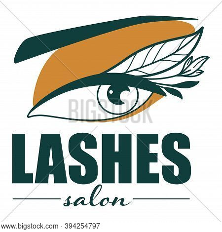 Lashes Salon Emblem For Studio For Cool Eyelashes
