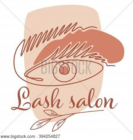 Lash Salon And Care Of Eyelashes And Brows Vector