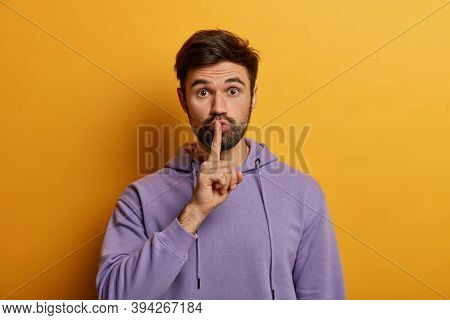 Mysterious Bearded Young Man Makes Shush Gesture, Asks To Keep Secret Safe, Says Keep Voice Down, Qu
