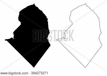 Scotland County, North Carolina State (u.s. County, United States Of America, Usa, U.s., Us) Map Vec