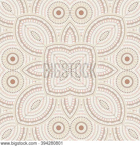 Intricate Victorian Majolica Tile Seamless Rapport. Geometric Texture Vector Patchwork. Fabric Print