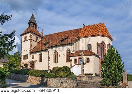 Saint Sebastien Chapel On The Alsace Wine Road In Dambach La Ville, Alsace