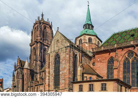 St. George's Church Is A Gothic Church In Selestat, Bas-rhin, Alsace, France.