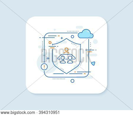 Interview Job Line Icon. Abstract Vector Button. Business Management Sign. Human Resources Symbol. I