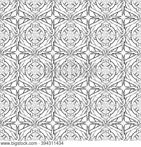 Intricate Celtic Vector Seamless Pattern. Monochrome Ornamental Intricacy Background. Branches With