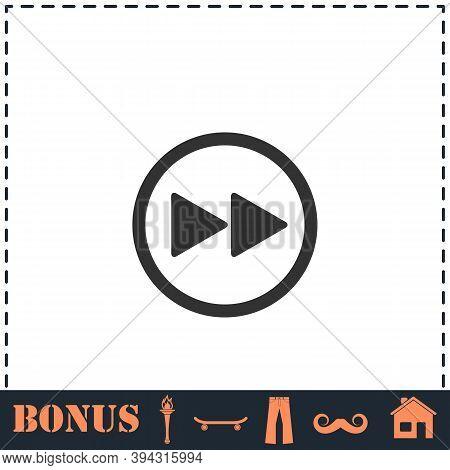 Rewinding Icon Flat. Simple Vector Symbol And Bonus Icon