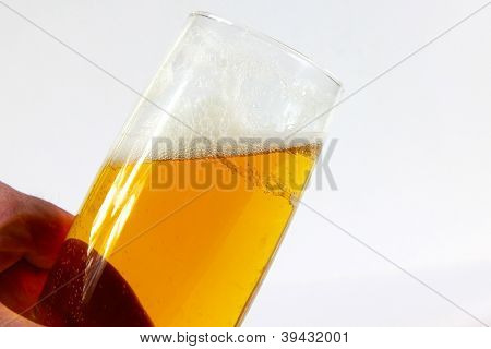 goblet with beer