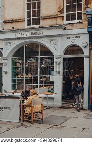 Bath, Uk - October 04, 2020: The Cornish Bakery Cafe In Bath, The Largest City In The County Of Some