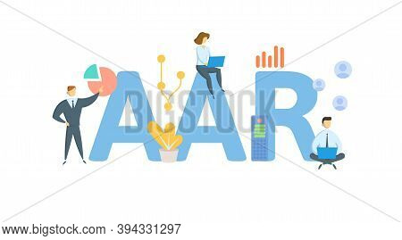 Aar, Average Annual Return. Concept With Keywords, People And Icons. Flat Vector Illustration. Isola
