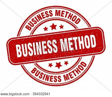 Business Method Stamp. Business Method Label. Round Grunge Sign