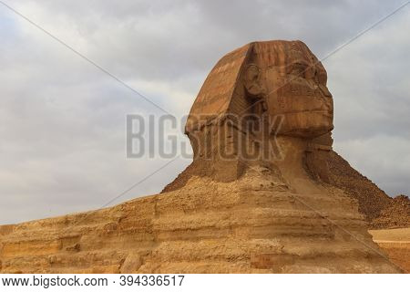 Close-up Of Great Sphinx Of Giza In Cairo, Egypt