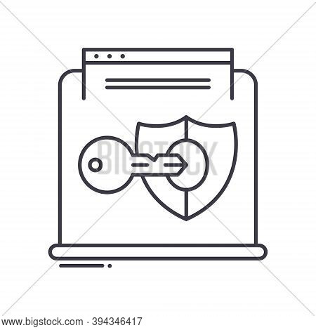 Authorized Icon, Linear Isolated Illustration, Thin Line Vector, Web Design Sign, Outline Concept Sy