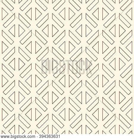Linear Style Geometric Seamless Pattern. Minimal Geo Suface Print. Repeated Triangles, Geometrical S