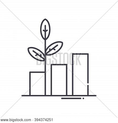 Sustainable Development Icon, Linear Isolated Illustration, Thin Line Vector, Web Design Sign, Outli