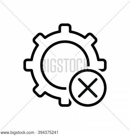 Black Line Icon For Dismiss Cancel Setting Circle Remove Delete Cut-out Clear Cancellation