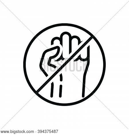 Black Line Icon For Strike Ban Feminist Fight Democracy Power Protest Sloganeering Manifestation Act