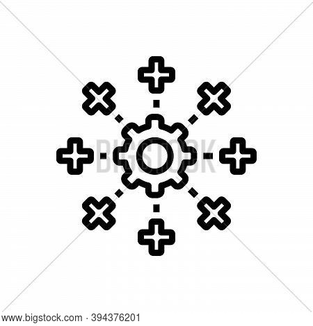 Black Line Icon For System Mainframe Network Database Information Software Engineering App-testing S