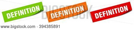 Definition Sticker. Definition Square Isolated Sign. Definition Label
